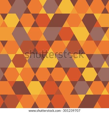 Beautiful abstract  seamless pattern. Geometric backdrop. Polygonal  texture. Hexagon abstract. Autumn wallpaper, - stock vector