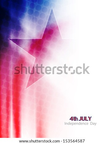 beautiful american flag theme background in wave style for independence day. vector illustration - stock vector