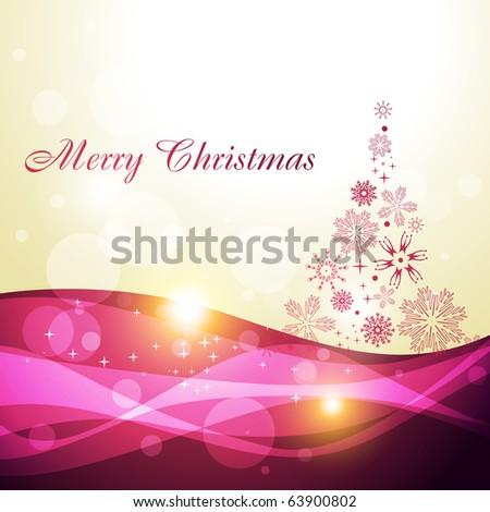 beautiful artistic christmas tree illustration - stock vector