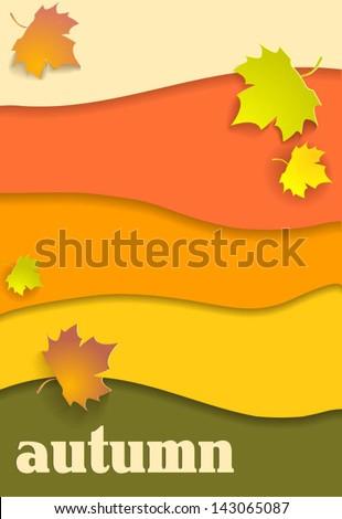 Beautiful autumn background - stock vector