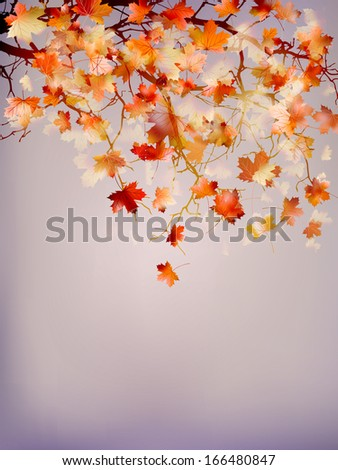 Beautiful autumn background. And also includes EPS 10 vector - stock vector