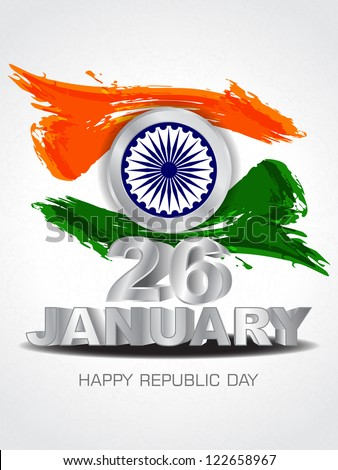 beautiful background for indian Republic Day. - stock vector