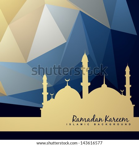 beautiful background of mosque and abstract background - stock vector