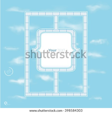 Beautiful Brackets Symbols Layout Elements on a Blue Sky Graphics - stock vector