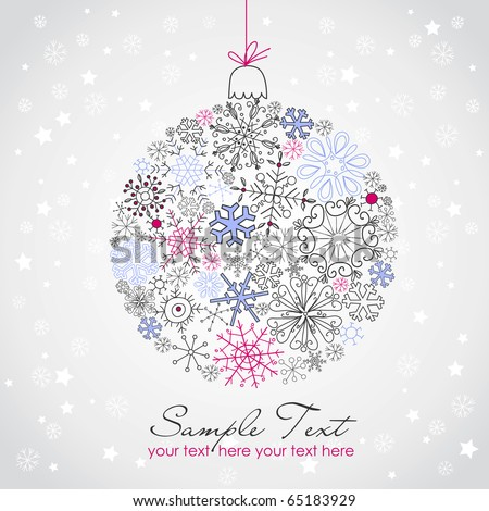 Beautiful Christmas ball illustration. - stock vector