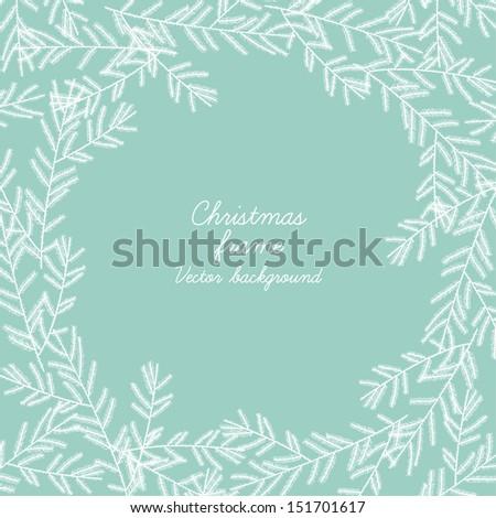 Beautiful christmas frame. Vector illustration - stock vector