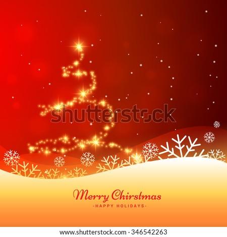 beautiful christmas greeting card - stock vector