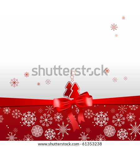Beautiful Christmas red postal - stock vector