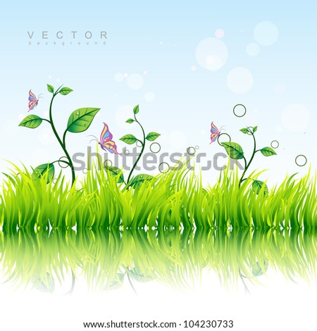 beautiful colorful nature vector background - stock vector