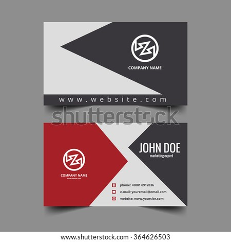 Beautiful creative business card set design - stock vector