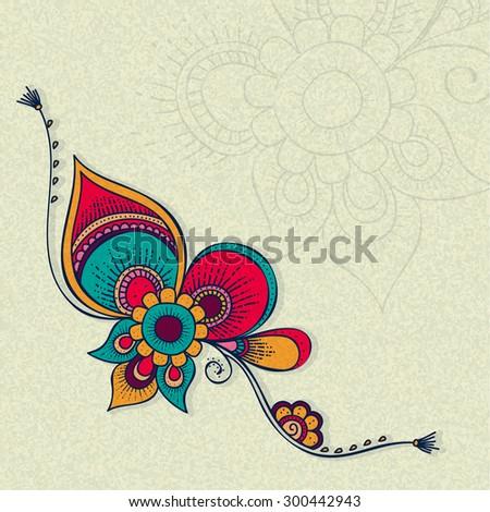 Beautiful creative rakhi on grungy background for Indian festival of brother and sister love, Raksha Bandhan celebration. - stock vector