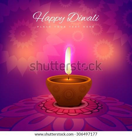 beautiful diwali festival card bright colorful background - stock vector
