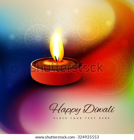 Beautiful diwali festival card colorful background  - stock vector