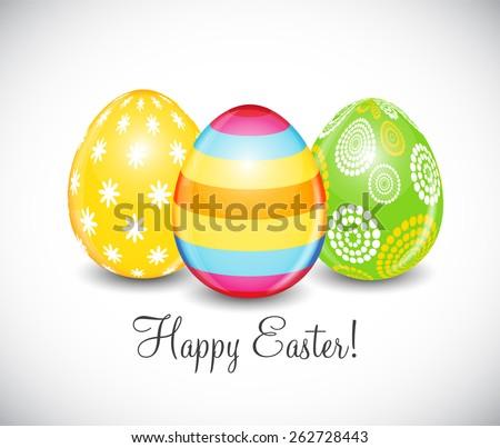 Beautiful Easter Egg Background Vector Illustration EPS10 - stock vector