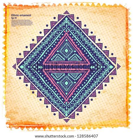 Beautiful ethnic ornament - stock vector