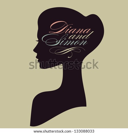 -vector-beautiful-female-face-silhouette-in-profile-wedding-vector ...