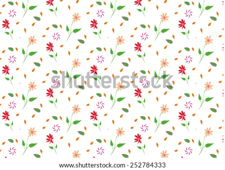 beautiful floral seamless vector pattern. Can be used for textiles, accessories; decorative paper, stationery,  wrapping etc. Swatch for seamless pattern included. - stock vector