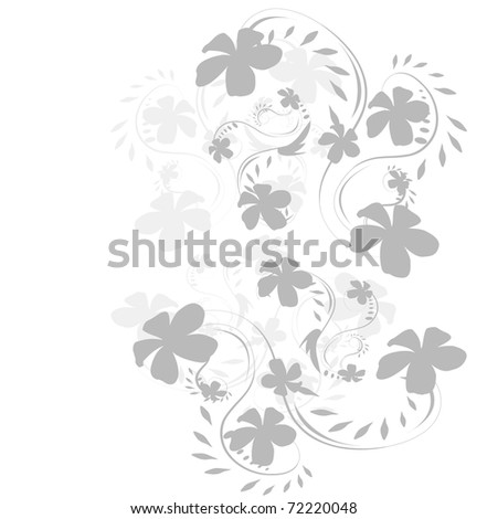 beautiful Floral vector background - stock vector