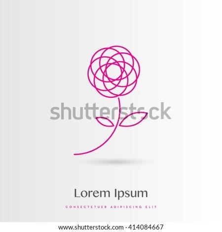 BEAUTIFUL FLOWER VECTOR DESIGN , LOGO / SYMBOL / ICON - stock vector