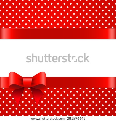 Beautiful gift background with space for text - stock vector