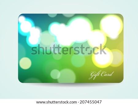 Beautiful Gift Card, Vector - stock vector