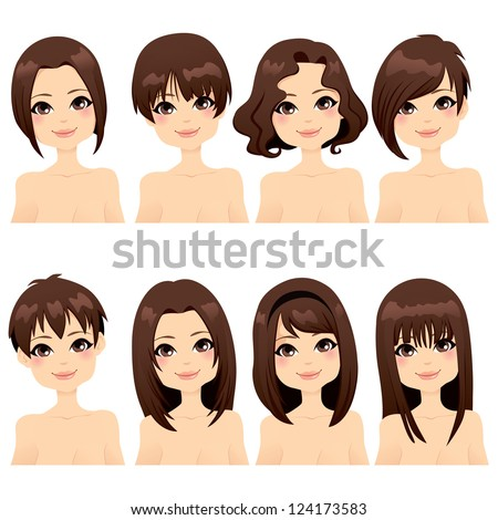 Short Curly Brown Hair Stock Photos Images Pictures Shutterstock