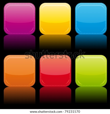 Beautiful glossy buttons. - stock vector