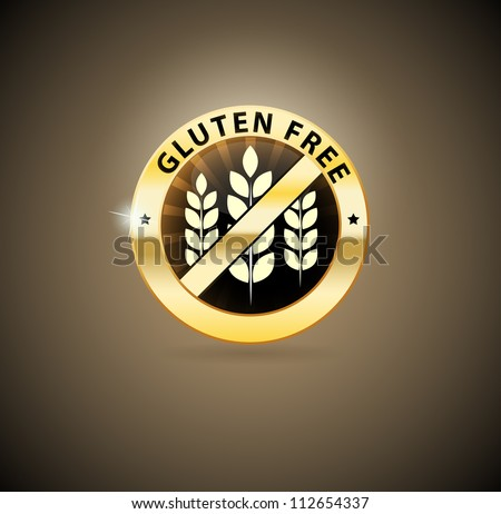 Beautiful Gluten free sign. Can be used as a stamp, emblem, seal, badge etc. Beautiful harmonic colors. - stock vector