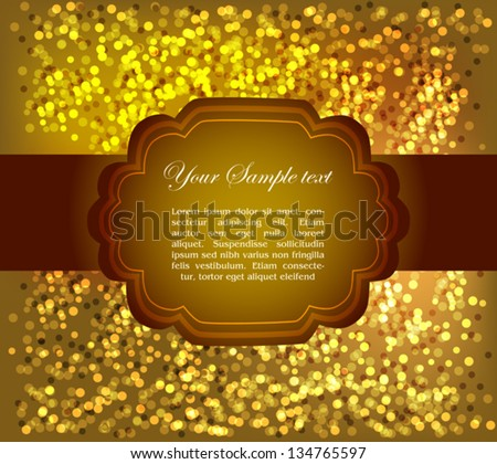 Beautiful greeting card, shiny background and a place for text - stock vector