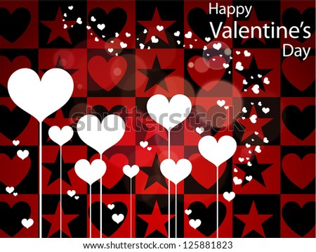Beautiful greeting cards with hearts. Happy Valentine's day. - stock vector