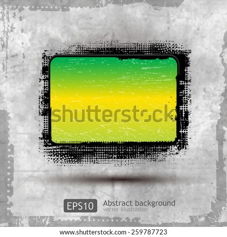 beautiful grunge banners with wave design - stock vector