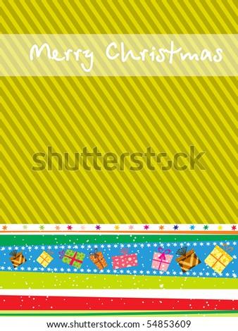 beautiful illustration for merry christmas celebration - stock vector