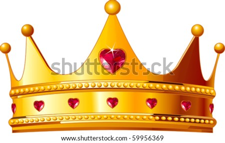 Beautiful illustration of a gold kings crown - stock vector