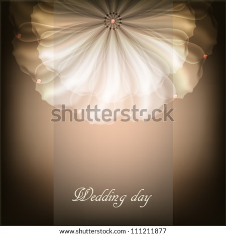 Beautiful illustration with white flower - stock vector