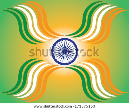 Beautiful Indian flag theme background design for Indian independence day. vector illustration - stock vector