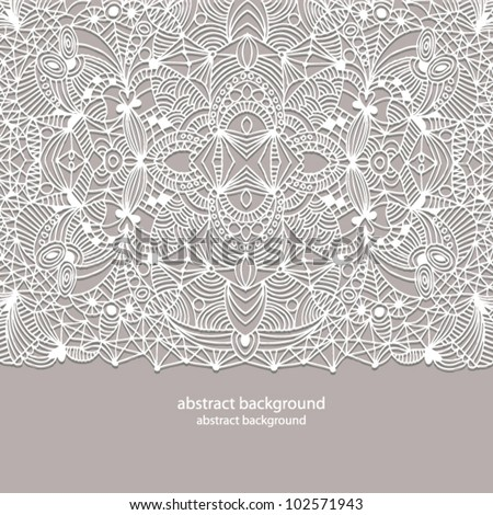 Beautiful lace background - stock vector