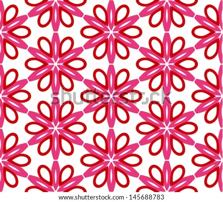 Beautiful lace pattern with flowers - stock vector