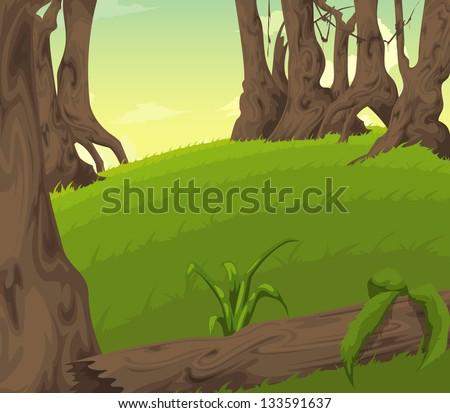 Beautiful Landscape Background vector - stock vector