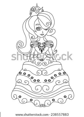 Beautiful little princess - stock vector
