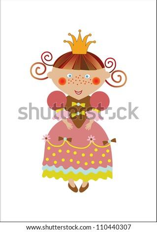 beautiful little vector princess - stock vector