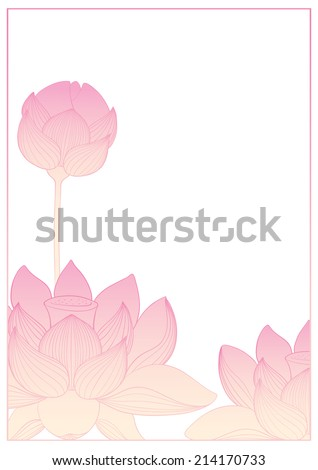Beautiful lotus background. Pink color. - stock vector