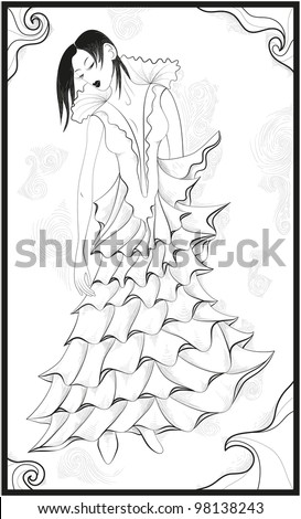 Beautiful model Inspiration from fantsy art - stock vector