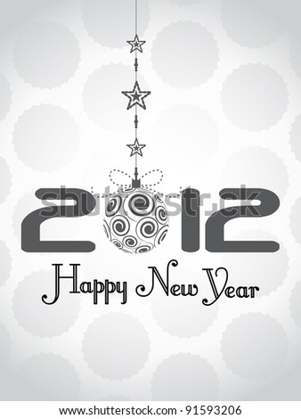 beautiful new year 2012 background - stock vector