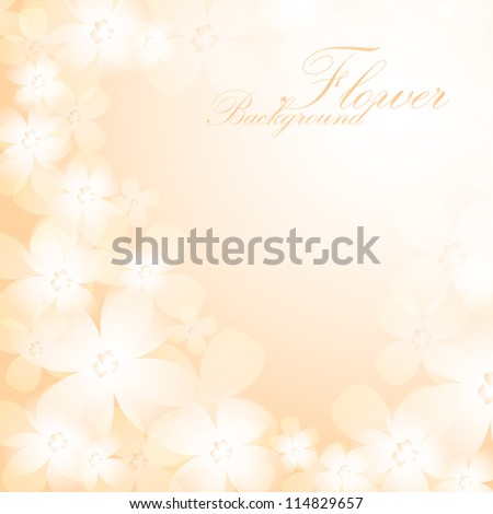 Beautiful orange flower background. EPS10 vector. - stock vector