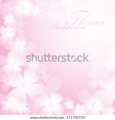 Beautiful pink flower background. EPS10 vector. - stock vector