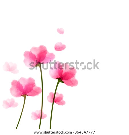 Beautiful pink flowers in heart shape for Valentine's Day and Love Season concept. - stock vector