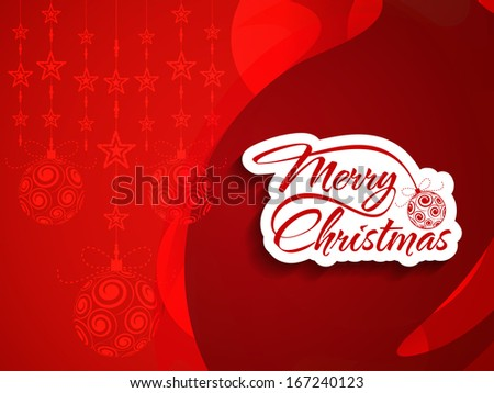 beautiful red color background design for Christmas. vector illustration - stock vector