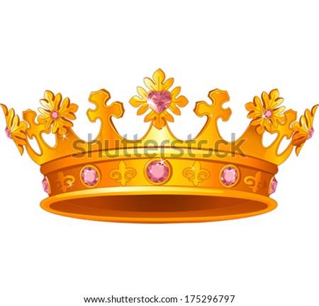 Beautiful Royal crown - stock vector