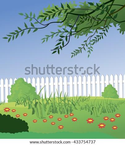 Beautiful Rural landscape - stock vector