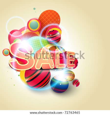 beautiful sale background eps10 vector - stock vector